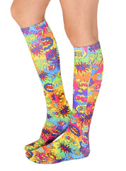Tie Dye Pop Art Knee High Socks