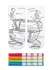 Color-In Socks Treasure Chest