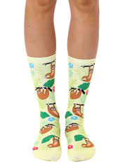 Tree Sloth Crew Socks