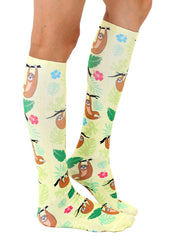 Tree Sloth Knee High Socks