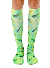 Trippy Pickle Knee High Socks