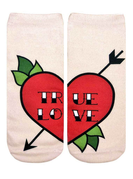 Love Tattoo Ankle Socks