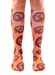 Turkey Pattern Knee High Socks