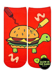 Turtle Burger Ankle Socks