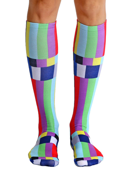 TV Warning Knee High Socks