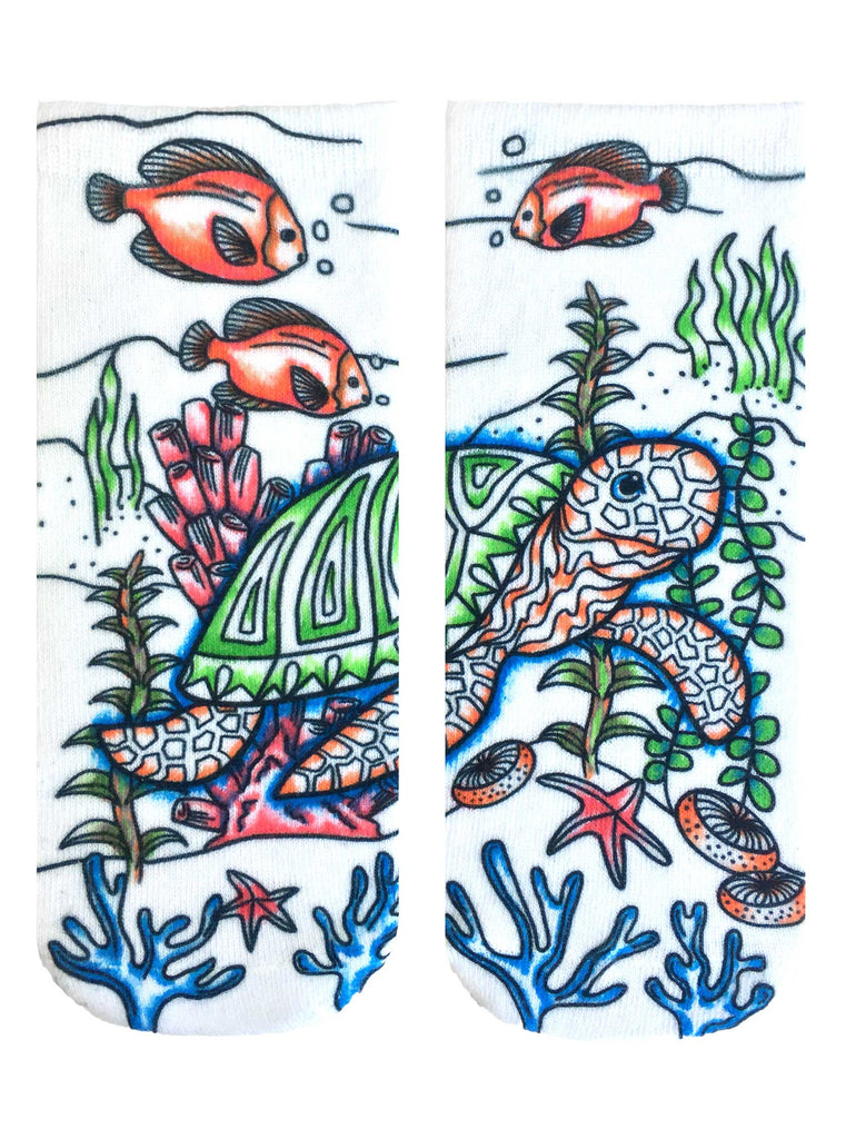 Color-In Socks Under The Sea
