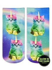 Unicorn Kitty Ankle Socks