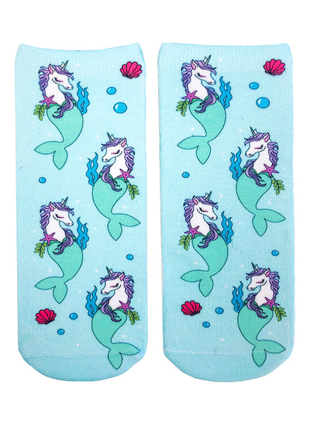 Unicorn Mermaid Ankle Socks