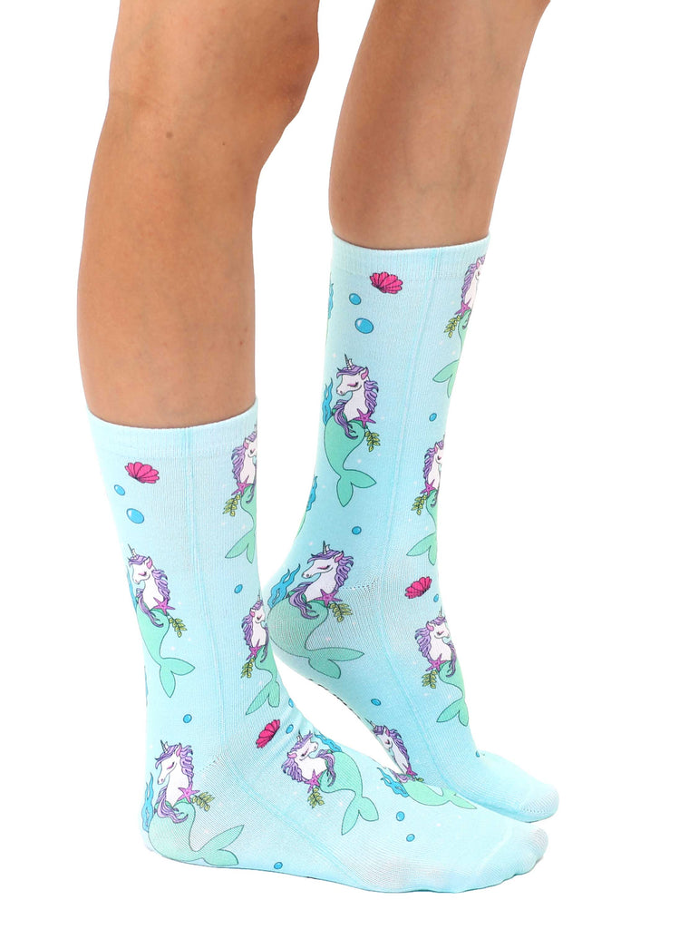 Unicorn Mermaid Crew Socks