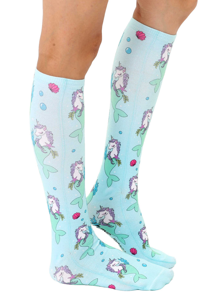 Unicorn Mermaid Knee High Socks