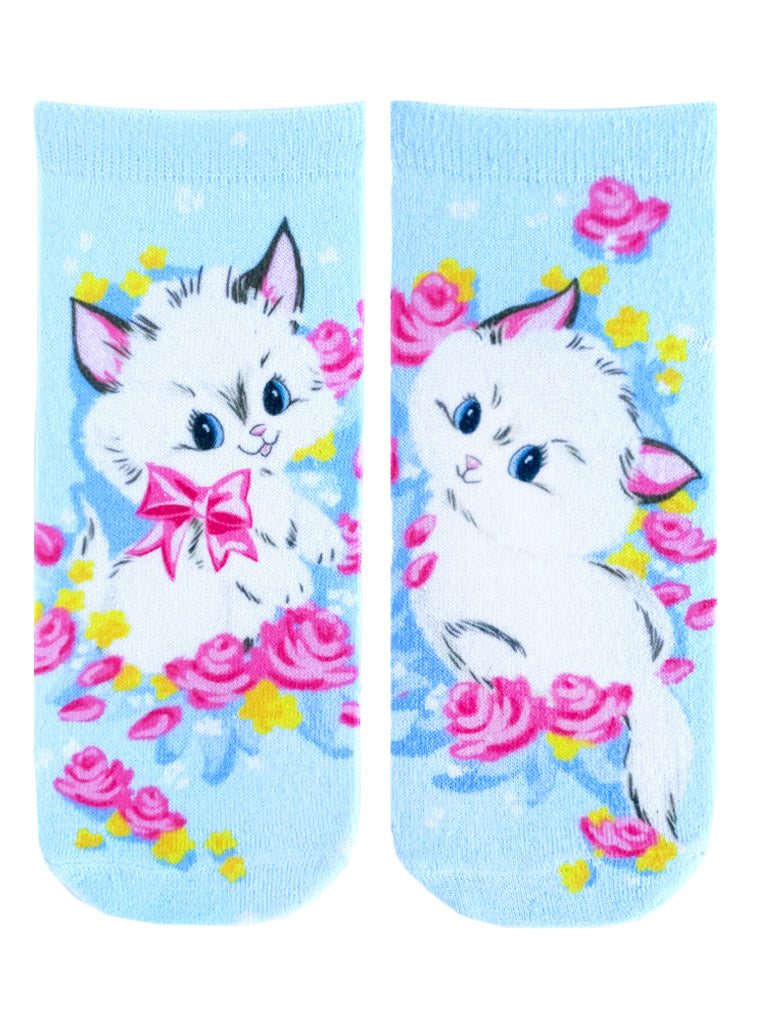 Vintage Kittens Ankle Socks