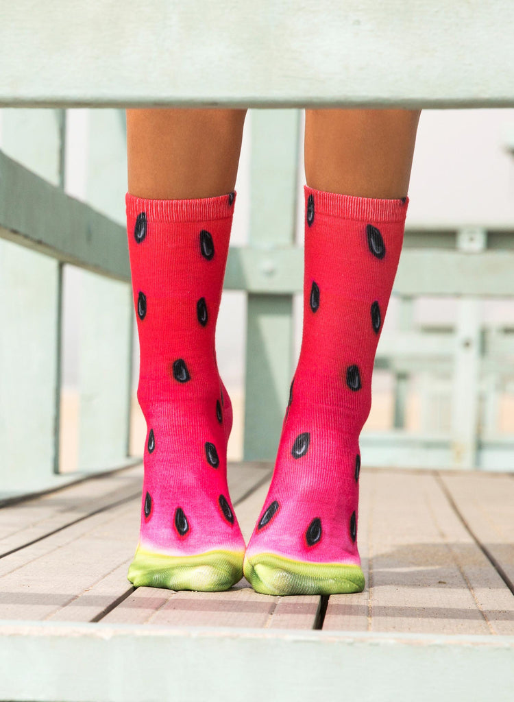 Watermelon Crew Socks