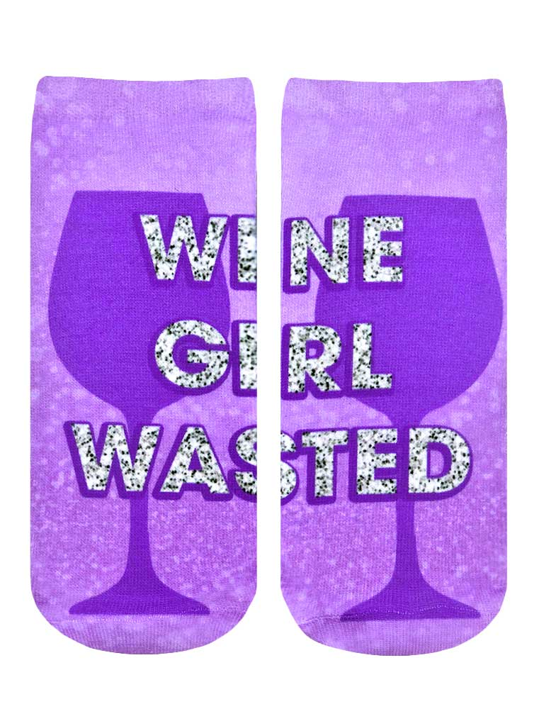 Wine Girl Wasted Ankle Socks