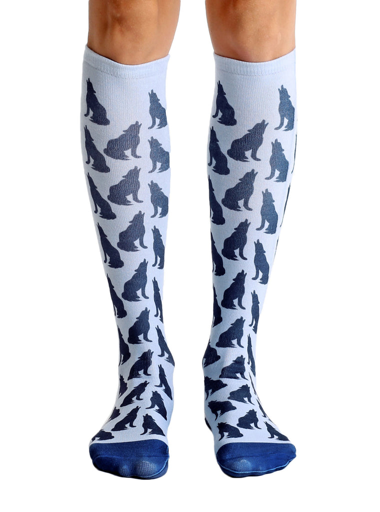 Howling Wolf Knee High Socks – Living Royal