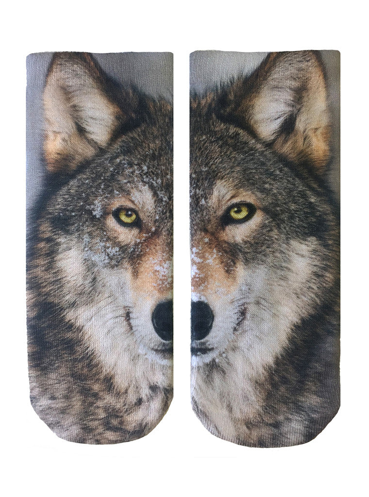 Wolf Ankle Socks