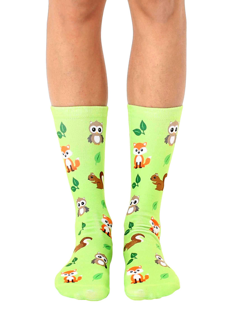 Woodland Animals Crew Socks