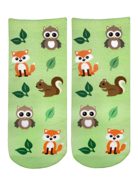 Woodland Animals Ankle Socks