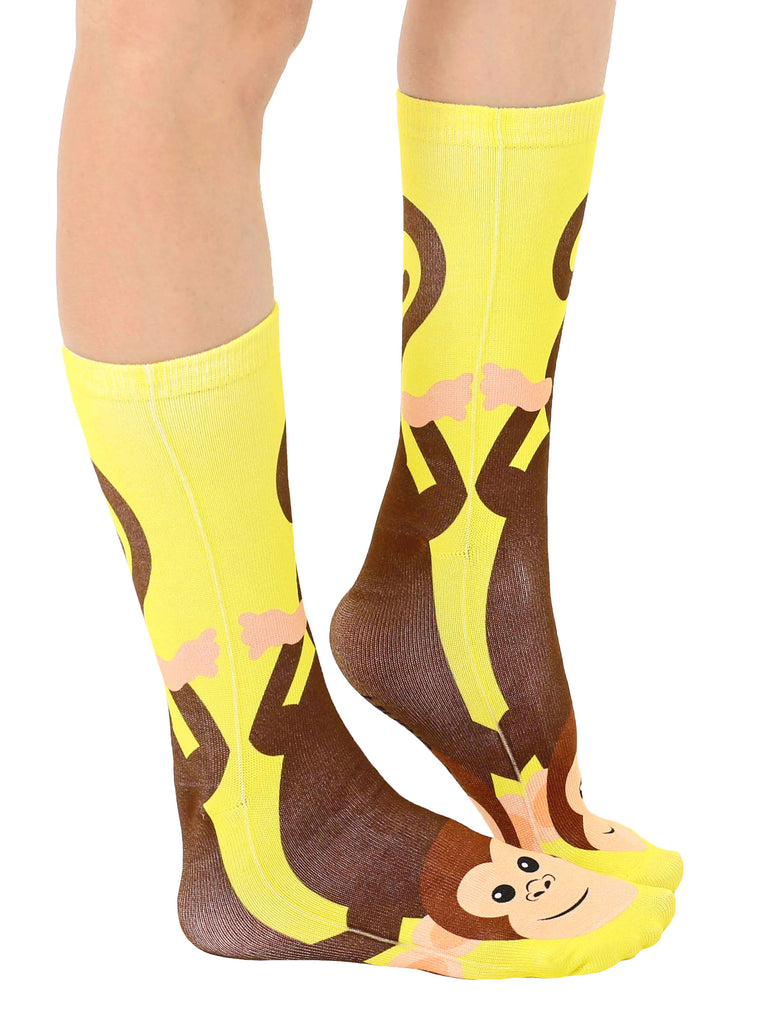 Yellow Monkey Crew Socks