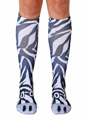 Zebra Knee High Socks