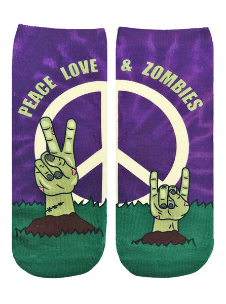 Zombie Peace And Love Ankle Socks