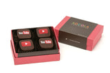 Personalized 4 piece box - Red Box with two color image