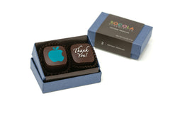 2 Piece Box - Dark Blue with Personalized Logo