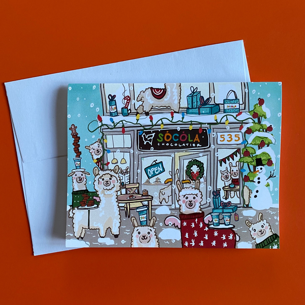 Holiday Alpaca Notecard (Single)