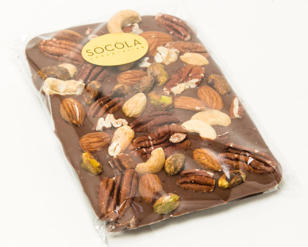 Toasted Nuts with Dark Chocolate Bar