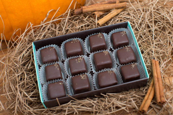 Pumpkin Burnt Caramel Chocolate Truffles