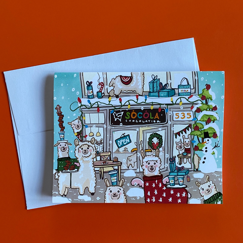 Holiday Alpaca Notecards (Set of 5)