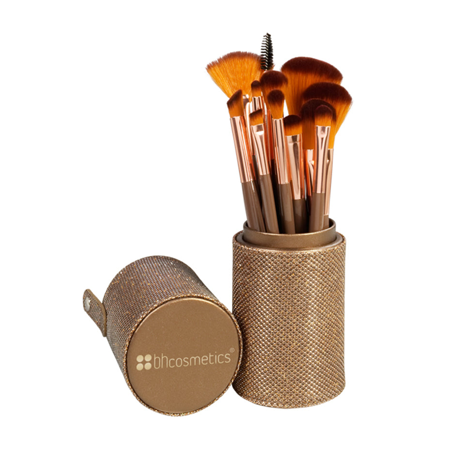 BH Cosmetics - Shimmering Bronze 12 Piece Brush Set