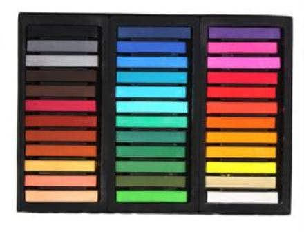 36 Piece Hair Chalk Set