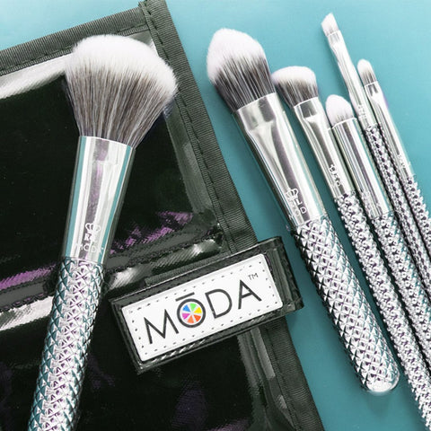 Moda - Metallics 7pc Metallic Silver Total Face Kit