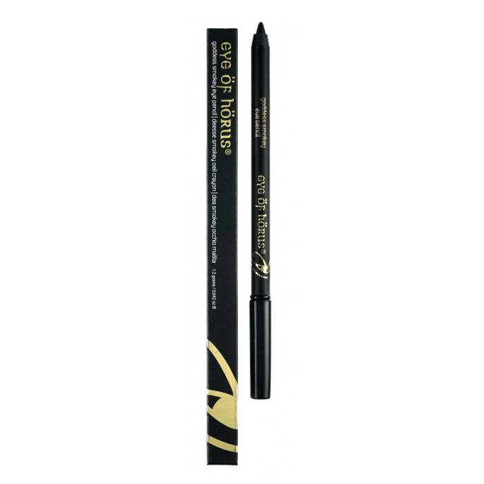 Eye of Horus Smokey Black Goddess Pencil