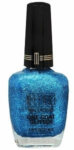 "Milani One Coat Glitter ""Blue Flash"""