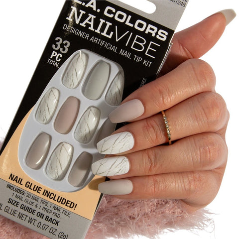 L.A. Colors - Nail Vibe Nail Kit Marble-ous