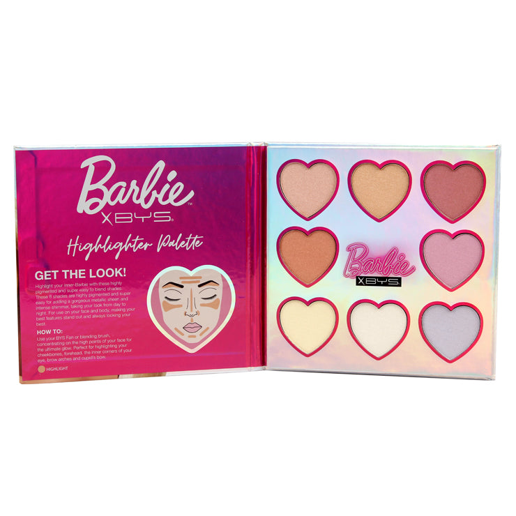 BYS x Barbie Disco - 8pc Highlighter Palette