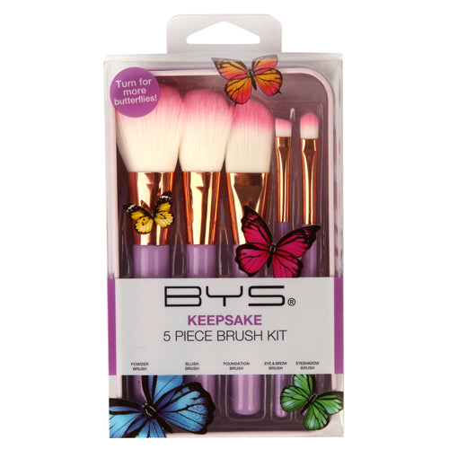 BYS - Makeup Brushes in Keepsake Tin Butterfly