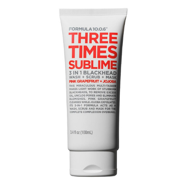 Formula 10.0.6 - Three Times Sublime 3-in-1 Blackhead Wash + Scrub + Mask