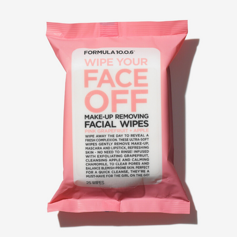 Formula 10.0.6 - Wipe Your Face Off Make-Up Removing Facial Wipes