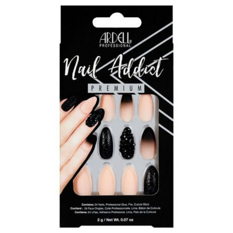 Ardell - Nail Addict Black Stud & Pink Ombre