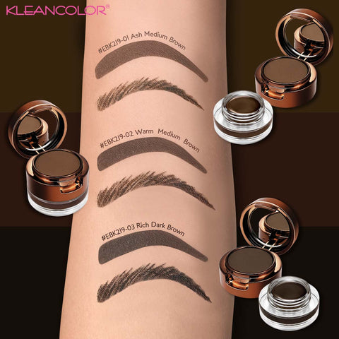 Kleancolor - Best Browmates Brow Powder & Gel Kit Warm Medium Brown
