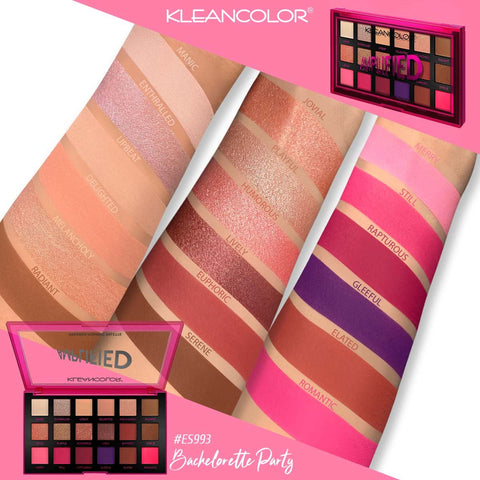 Kleancolor - Amplified Pressed Pigment Palette Bachelorette Party