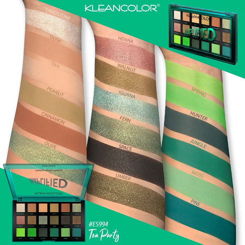 Kleancolor - Amplified Pressed Pigment Palette Tea Party