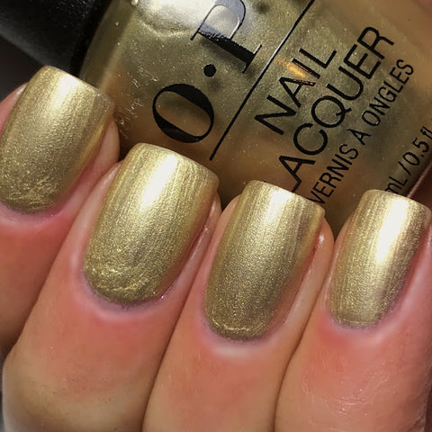 OPI 2017 Love, OPI XOXO 'Gift of Gold Never Gets Old'