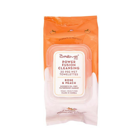 The Creme Shop - Hello Kitty Power Fusion Cleansing 30 Pre-Wet Towelettes - Rose & Peach