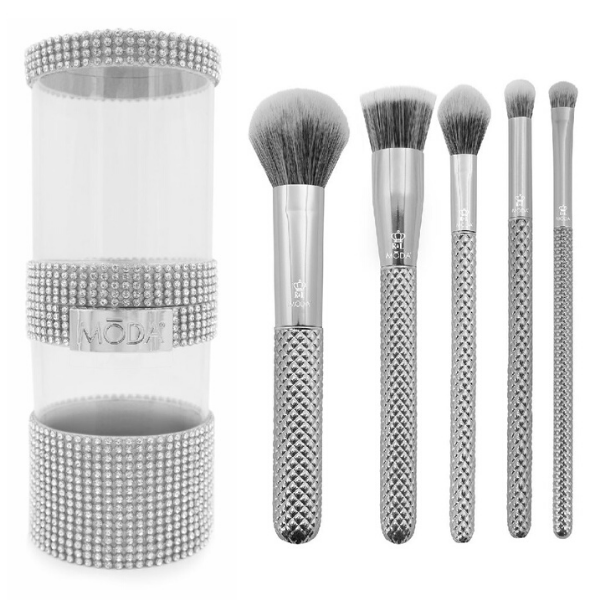 Moda - Metallics 6pc Silver Full Face Kit