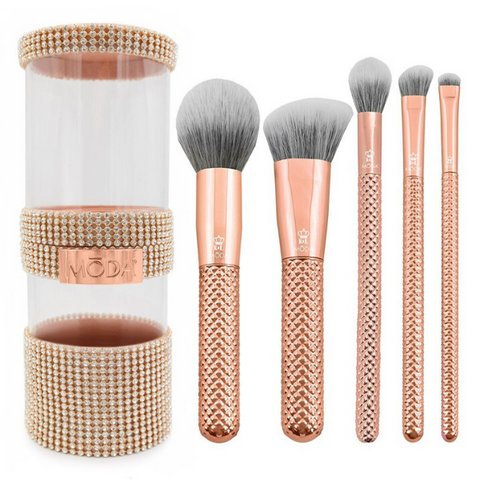 Moda - Metallics 6pc Rose Gold Full Face Kit