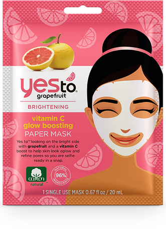 Yes To - Grapefruit Vitamin C Glow-Boosting Paper Mask