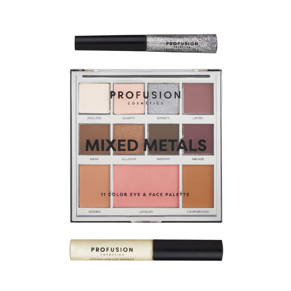 Profusion - Mixed Metals Face Kit Silver Chrome